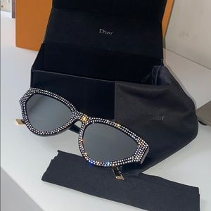 Authentic dior cat eye mirrored sunglasses
